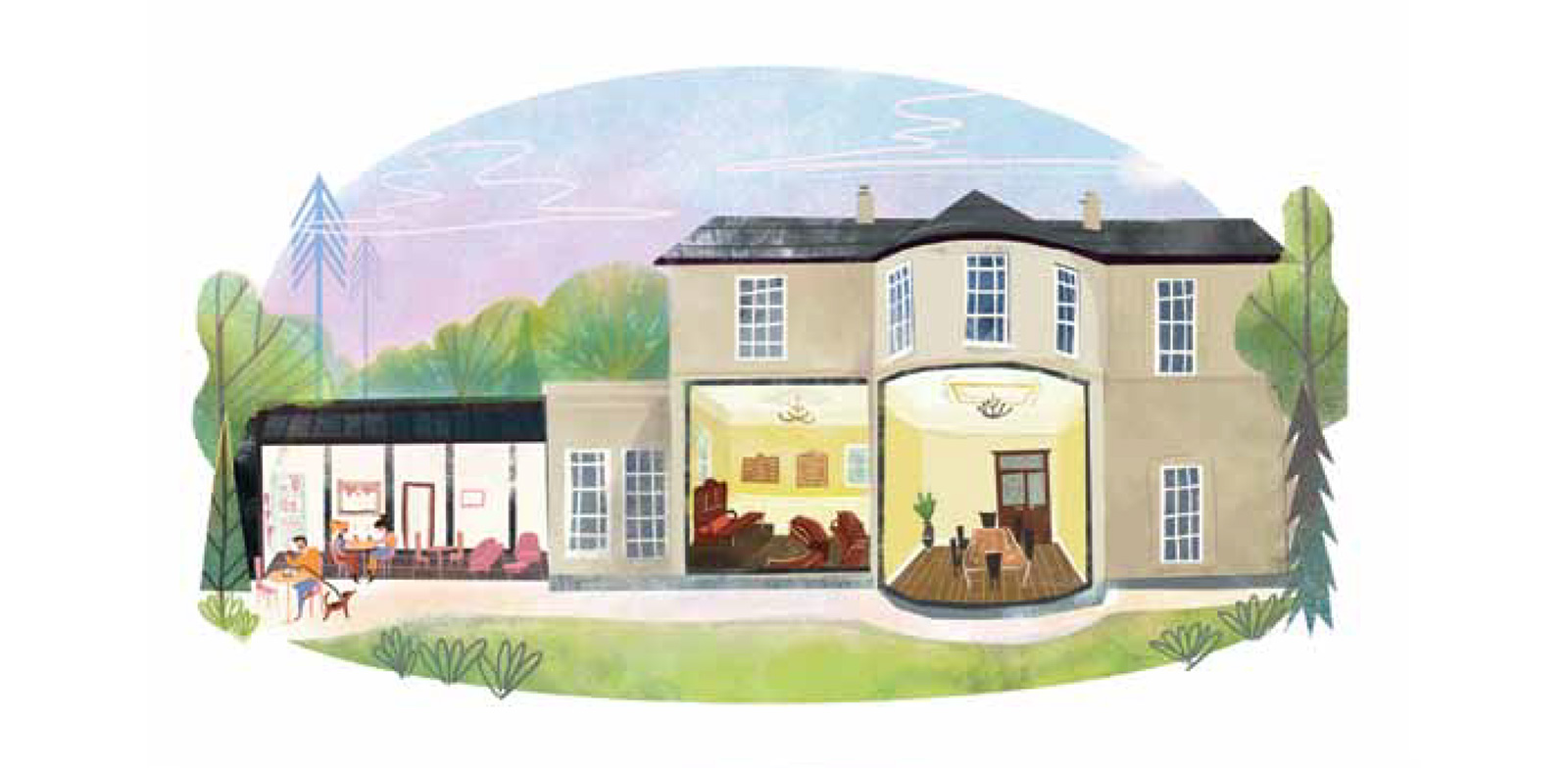 Bedwellty House Illustration