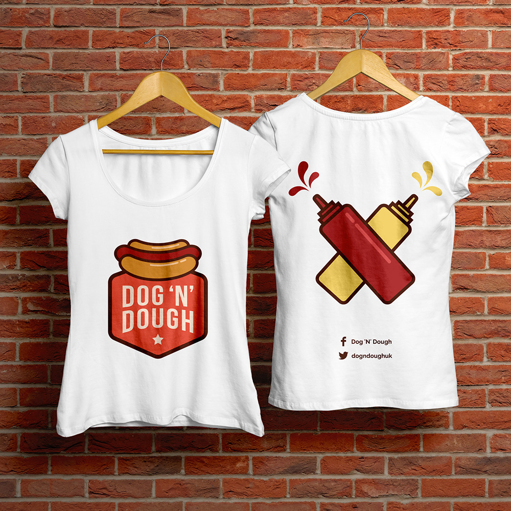 Dog N Dough T-shirt Design