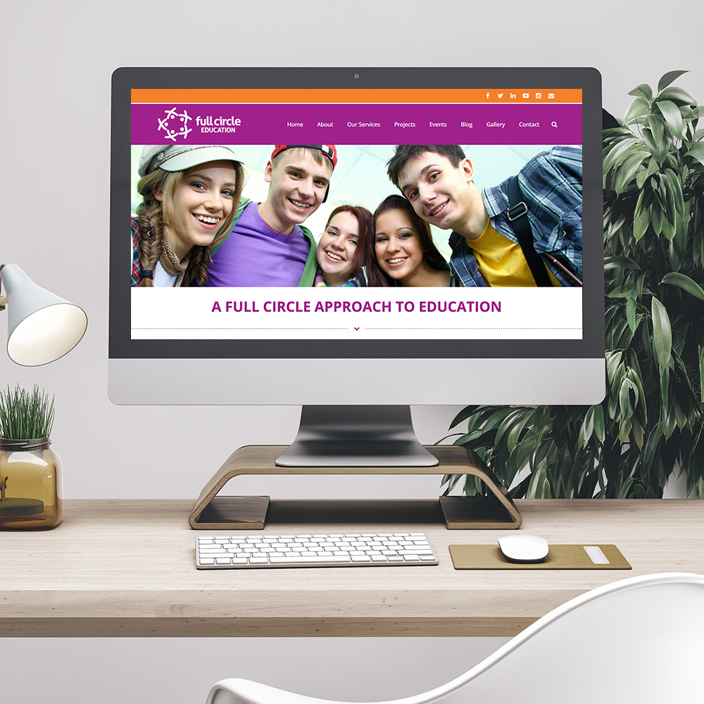 Full Circle Education Desktop Website Design