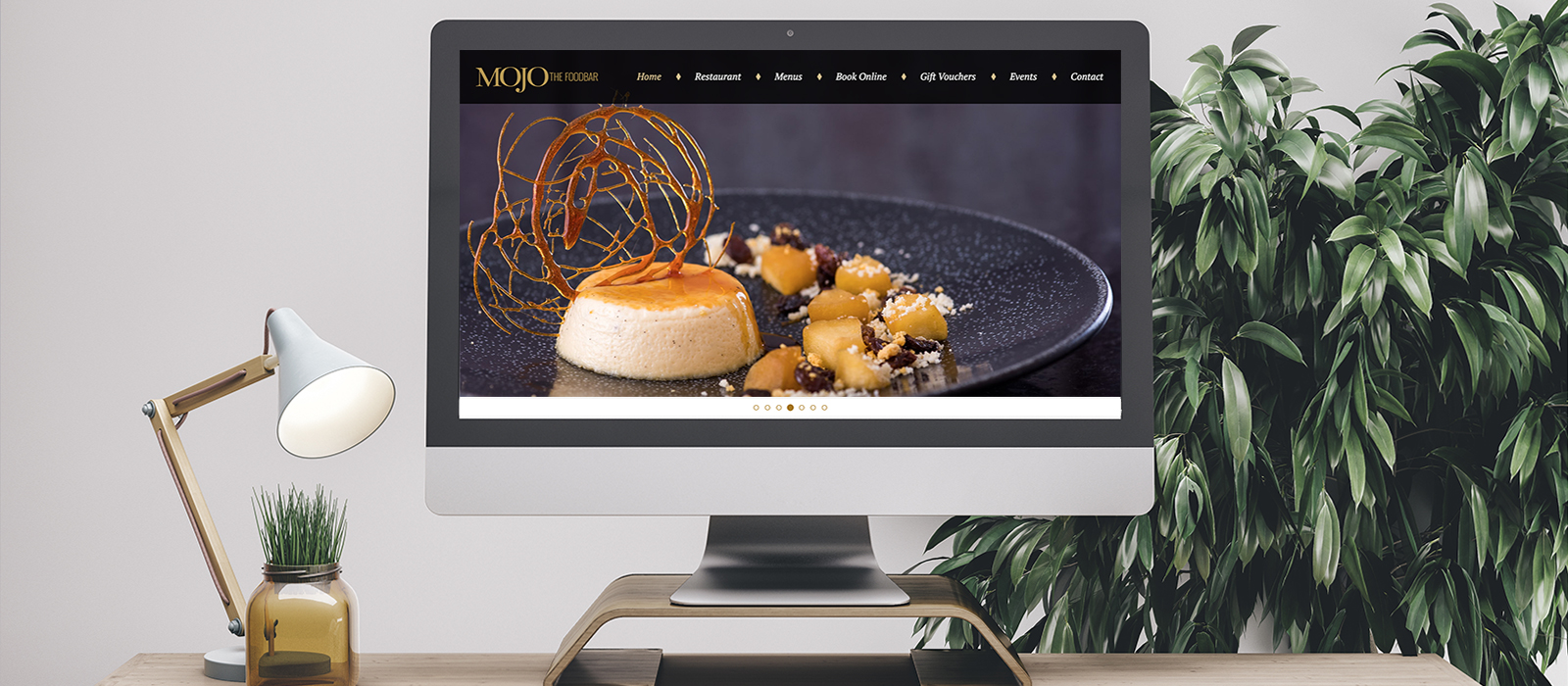 Branding, Menu Design and Website for Mojo The Foodbar