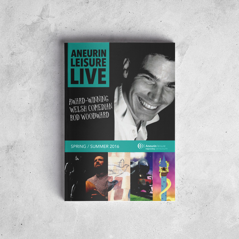Aneurin Leisure Live Brochure Design