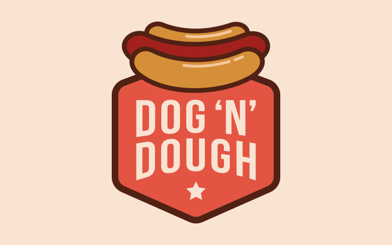 Dog 'N' Dough - Branding and Menu Design