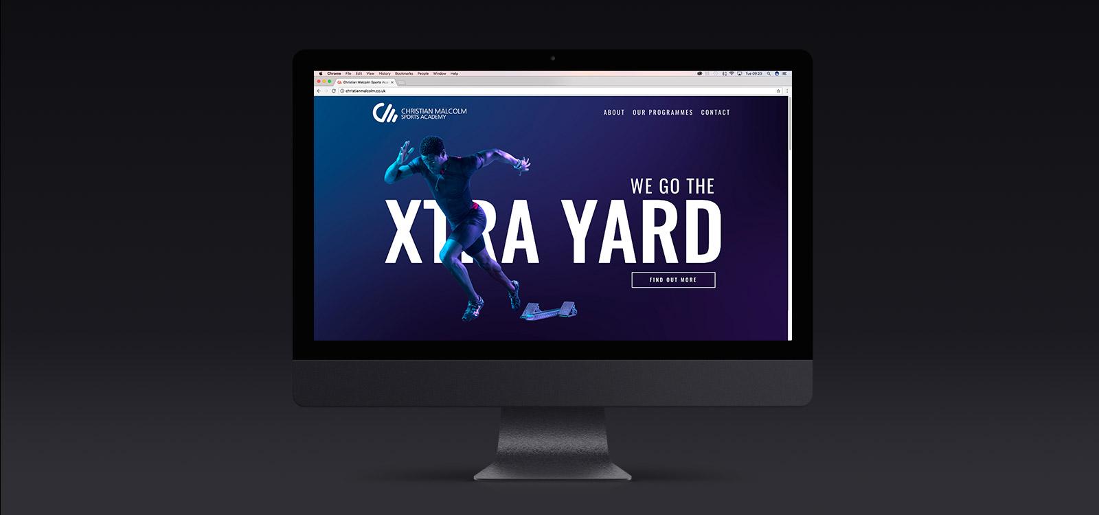 Christian Malcolm Sports Academy   Website Design   Dirty Little Serifs