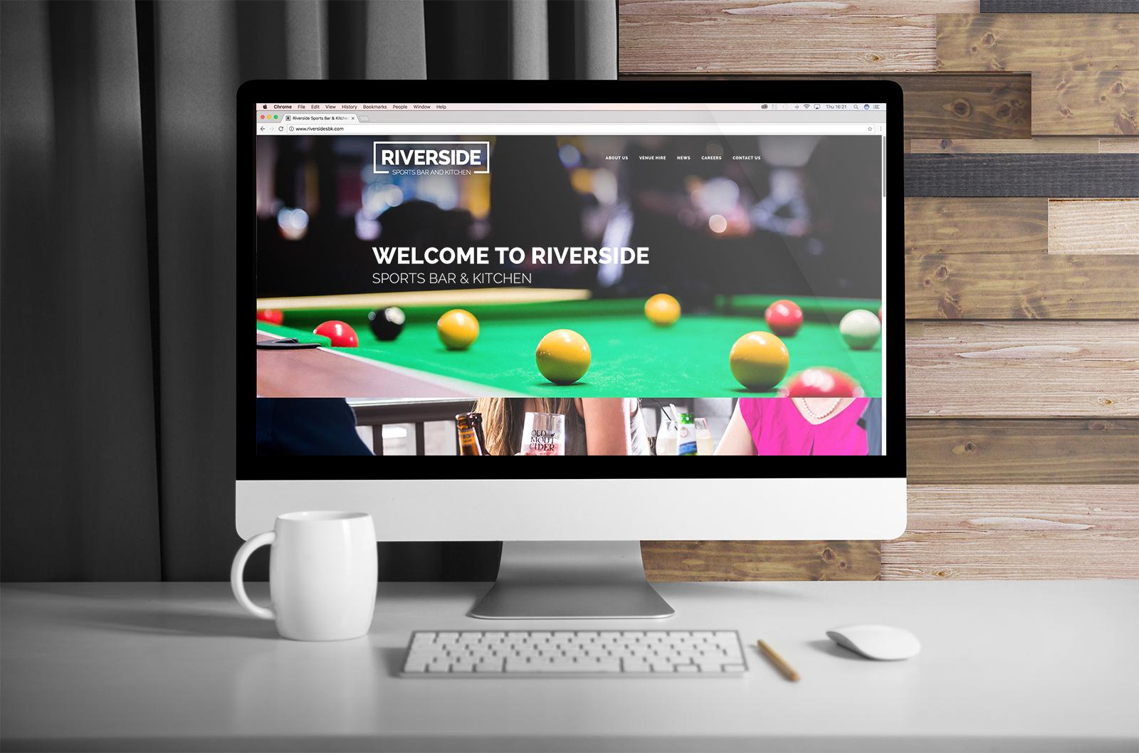 Riverside Sports Bar & Kitchen   Branding, Design for Print, Website Design   Dirty Little Serifs