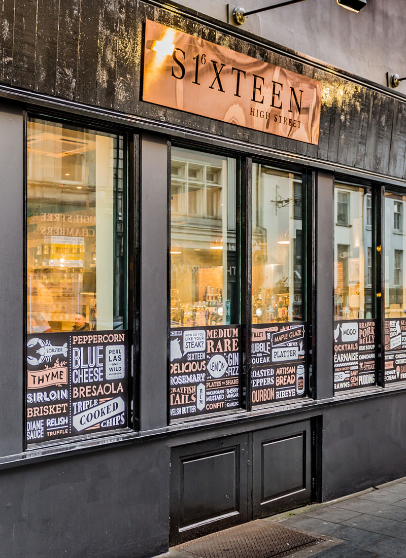Sixteen High Street | Branding, Signage, Design for Print | Dirty Little Serifs