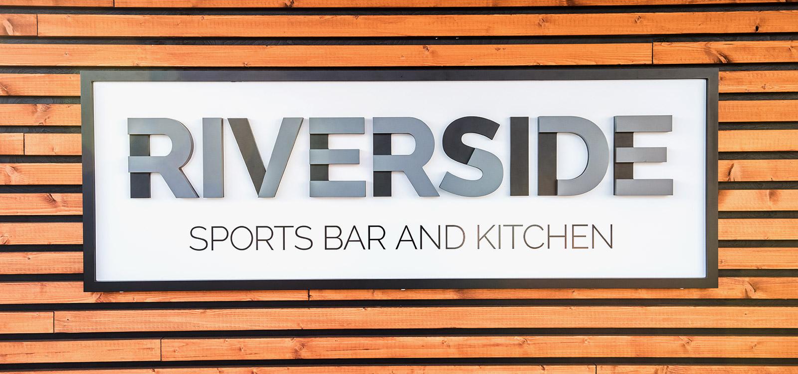 Riverside Logo Signage